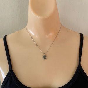 Vintage Sterling Silver Unique Pendant Necklace
